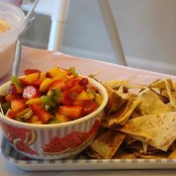 Fruit Salsa with Cinnamon Tortilla Chips