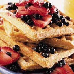 Fruit-Topped Whole Grain Waffles