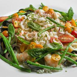frutti di mare e dell'orto