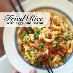 FRY Eggs and Bacon Fried Rice