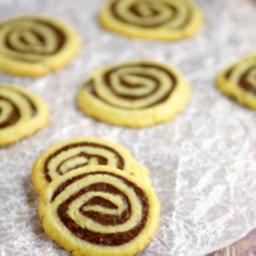 Fudge Butter Cookie Pinwheels