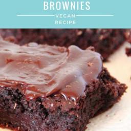 Fudgy Beetroot Brownies | Vegan