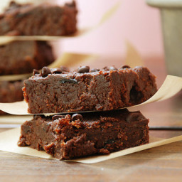 Fudgy Cranberry Paleo Brownie Bars