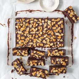 Fudgy Peanut Brownies
