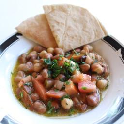 Ful Medames, Syrian Style (Arabic Bean Salad) [Vegan, GF]