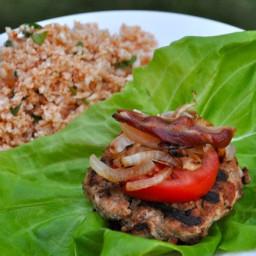 Fully Loaded-Lettuce Wrapped-Turkey Bacon Burgers