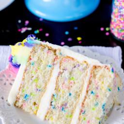 Funfetti Cake from Scratch (& A Very Merry Unbirthday)