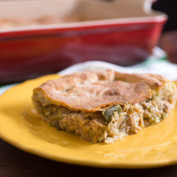 Galician Empanada With Tuna, Onion, and Green Bell Pepper Filling