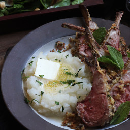 Game of Thrones: Herb Crusted Rack of Lamb and Mashed Turnips