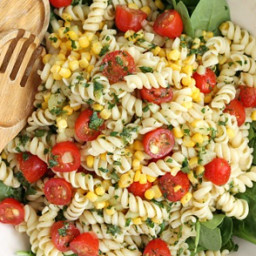 Garden Fresh Pasta Salad With Cilantro-Lime Drizzle