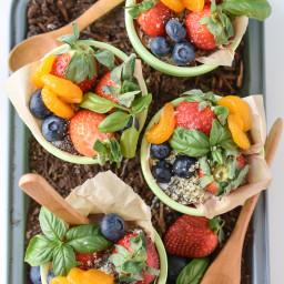 Garden Fruit Parfait Cups