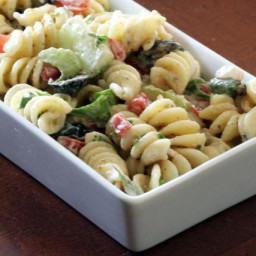 Garden Pasta Salad With Rotini and Vegetables