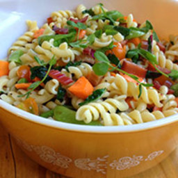 Garden Market Pasta Salad with Smoked Trout