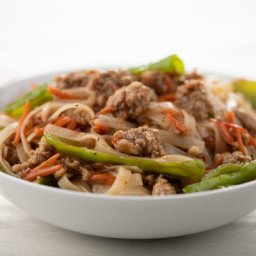 Garlic and Ginger Pork Noodle Bowlready in 15 minutes