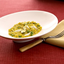 Garlic and Herbs Golden Crab Risotto