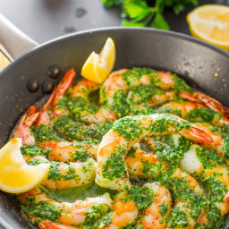 Garlic and Parsley Butter Shrimp