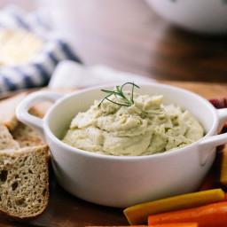 Garlic and Rosemary White Bean Dip