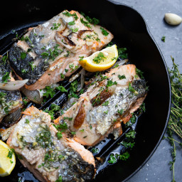 Garlic and Thyme Skillet Salmon
