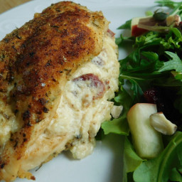 Garlic bacon and cheese stuffed chicken breast