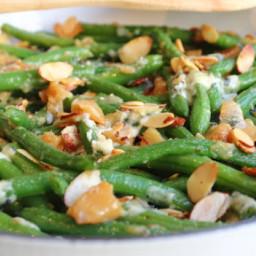 Garlic & Blue Cheese Green Bean Almondine