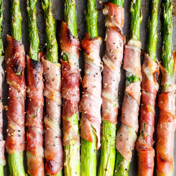 Garlic Butter Prosciutto Wrapped Asparagus