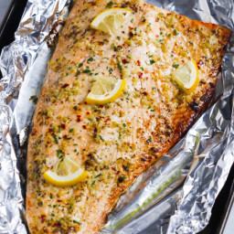 Garlic Butter Salmon in Foil Recipe