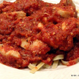 Garlic Chicken Marinara Sauce in 30 Minutes
