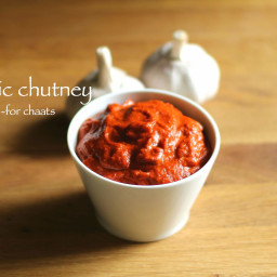garlic chutney recipe | red chilli garlic chutney for chaat | lasun chutney