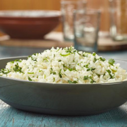 Garlic cilantro rice