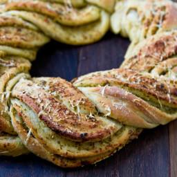 Garlic, Feta & Pesto Pull Apart Bread