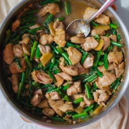 Garlic Ginger Chicken and Asparagus