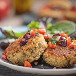 Garlic Lemon Couscous Cakes