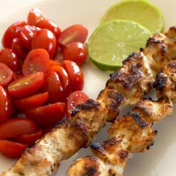 Garlic Lime Chicken Kabobs {Freezer Meal}