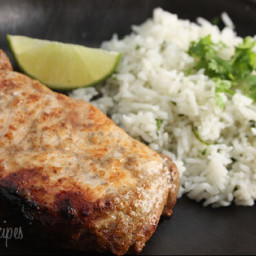 Garlic Lime Marinated Pork Chop