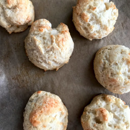 Garlic Parmesan Drop Biscuits from Two Ingredient Dough