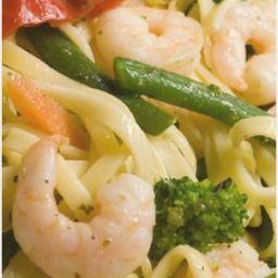 Garlic Shrimp Spaghetti with Broccolini