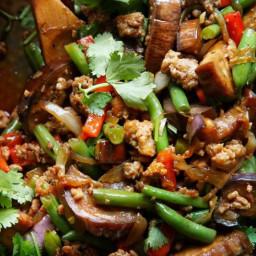 Garlic Sriracha Pork Stir Fry