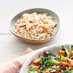 Garlic-Studded Brown Rice
