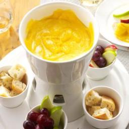 Garlic Swiss Fondue Recipe