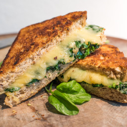 Garlicky Greens and Gouda Grilled Cheese