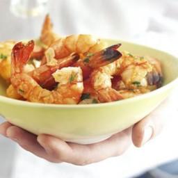 Garlicky prawns with sherry