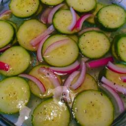 Garlicky Quick Pickled Cucumbers