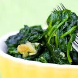 Garlicky Spinach - F&W