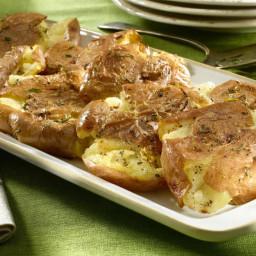 Garlic Smashed Potato Cakes