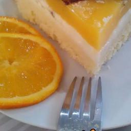 Gâteau miroir à l'orange
