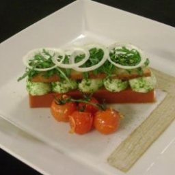 Gazpacho Jelly with Baby Mozzarella