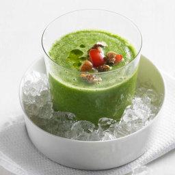 Gazpacho verde mit Tomaten-Coulis