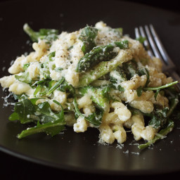 Gemelli with Asparagus, Ricotta, Arugula, and Lemon Zest