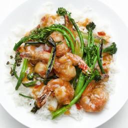 General Tso's Shrimp with Broccolini