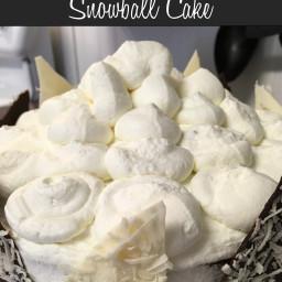 German Chocolate Snowball Cake